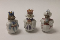 Three Lladro china Christmas tree decorations, height 9 cm, all boxed. (3)