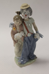 A Lladro china figure - Pals Forever, height 23 cm, boxed.
