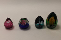 Four Caithness Glass paperweights - Damask Rose, Chasm, Apparition and Volcano, all boxed. (4)
