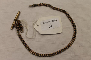A 9ct gold watch chain, 29g.