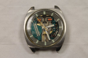 A Bulova gentleman's stainless steel Accutron Spaceview wrist watch.
