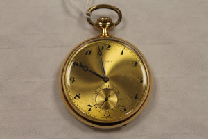 A 14ct gold Longines pocket watch.