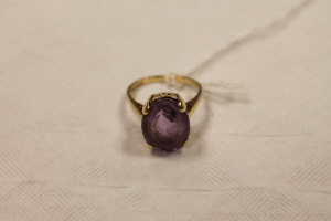 A 9ct gold amethyst ring.
