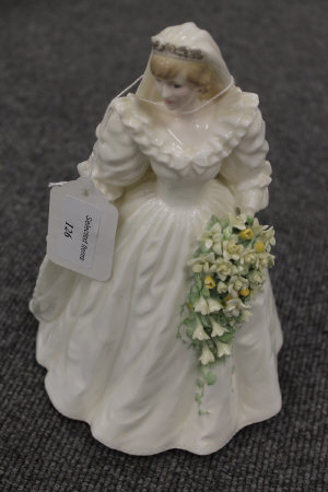 A Coalport limited edition figurine depicting Diana Princess of Wales, height 23 cm.