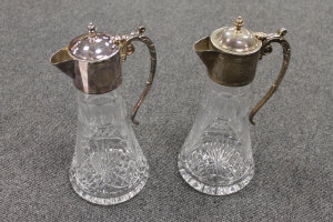 A pair of Edinburgh crystal  Bank of Scotland Centenary claret jugs, boxed. (2)