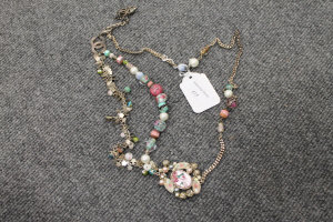 A Chanel multicoloured beaded necklace.