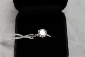 A 14ct white gold diamond solitaire ring, approximately 2ct.