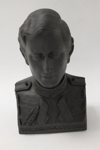 A Wedgwood figure - Prince Charles, commissioned to celebrate the Royal Wedding  29th July 1981, boxed.
