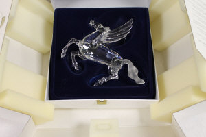 A Swarovski crystal figure - Fabulous Creatures annual edition 1998 'The Pegasus', boxed.