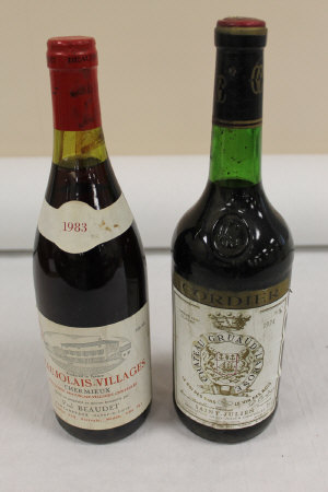 Ten bottles of red wine - Chateau Gruaud-La Rose 1974, Beaujolais-Villages Chermieux 1983 and others. (10)
