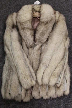 A vintage lady's leather lined sable fur jacket.
