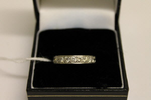 A platinum diamond eternity ring, approximately 2.1ct.