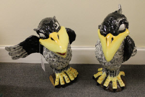 Two Lorna Bailey figures - Jim the jackdaw and Ray the rook. (2)