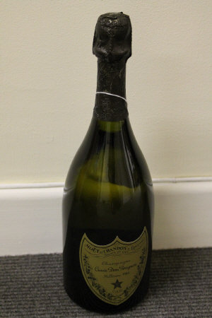 One bottle of Dom Perignon vintage 1988 champagne, boxed.
