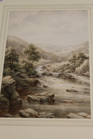 Charles A. Bool : White waters near Colwyn, North Wales, watercolour, signed, 54 cm x 37 cm, framed.