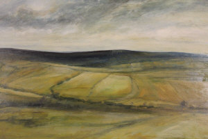 K Hilldrew : Open Moorland, oil on board, signed, dated '71, 60 cm x 90 cm, together with the companion piece, both parts framed. (2)