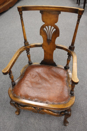 A late nineteenth century chairbler's sample, initials to the back rail 'JG', height 81 cm.