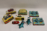 A Dinky Shado 2 mobile, model 353, together with eight other Dinky vehicles, partly boxed. (9)