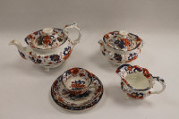 Fifty-eight pieces of 19th  century Amherst Japan ironstone china. (58)