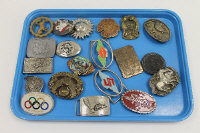 A Montreal 76 Olympics buckle, together with nineteen other vintage belt buckles. (20)