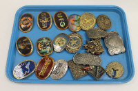 A Pacifica Led Zeppelin buckle, together with nineteen other vintage belt buckles. (20)