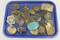 An Anacortes brass buckle, together with nineteen other vintage belt buckles. (20)
