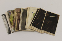A collection of postcards and WW I silks, including four Zepplin cards. (Q)