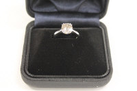 An 18ct white gold old cut diamond solitaire ring, approximately 2.59ct, colour H, clarity Si1.