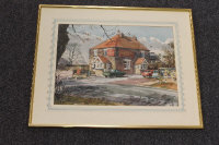 Thomas Manson : The Killingworth Arms, watercolour, signed, 33 cm x 45 cm, framed.