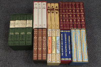 The Folio Society (Publisher) : A boxed set of seven Jane Austen novels, together with seven further boxed sets by Wilkie Collins, J.R.R.Tolkein and others, twenty-nine volumes over eight sets. (8)