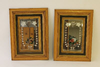 A pair of late nineteenth century mirrors, framed in oak. (2)