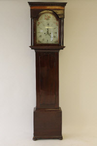 A nineteenth century inlaid mahogany longcased clock by J. Marteen, Keppen, height 206 cm.