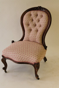 A Victorian mahogany Lady's chair.