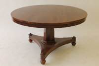 A William IV mahogany tilt topped breakfast table, width 127 cm.