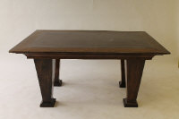 A late Victorian mahogany library table, width 167 cm.
