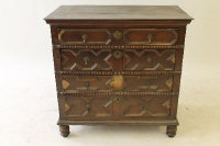 A Victorian oak four drawer chest, width 96.5 cm.