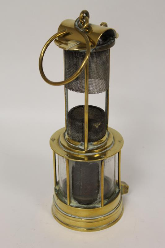 A Victorian Brass Miner's Lamp