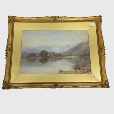 Harry Sutton Palmer : A Highland Loch, watercolour, signed