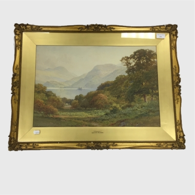 Harry Sutton Palmer : Ullswater, watercolour, signed