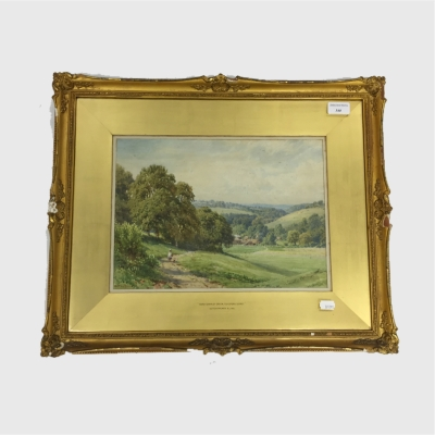 Harry Sutton Palmer : Near Shamley Green, Guildford, Surrey, watercolour, signed