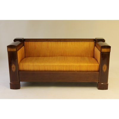 A Quality Mahogany and Satinwood Inlaid Sofa