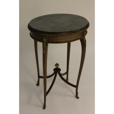 A 19th Century Mahogany, Ormolu and Marble Topped Occasional Table