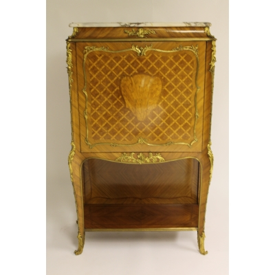 A Continental Satinwood and Ormolu Mounted Cabinet