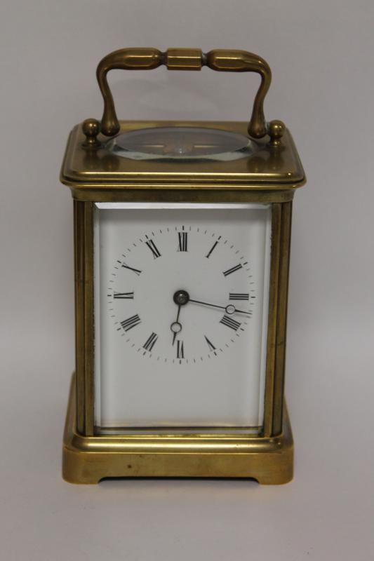 A Good Quality French 8 Day Carriage Clock