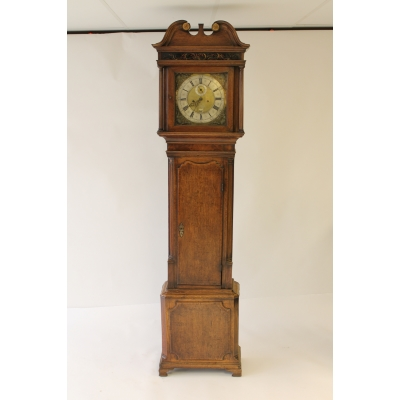 A Georgian Oak Longcase Clock