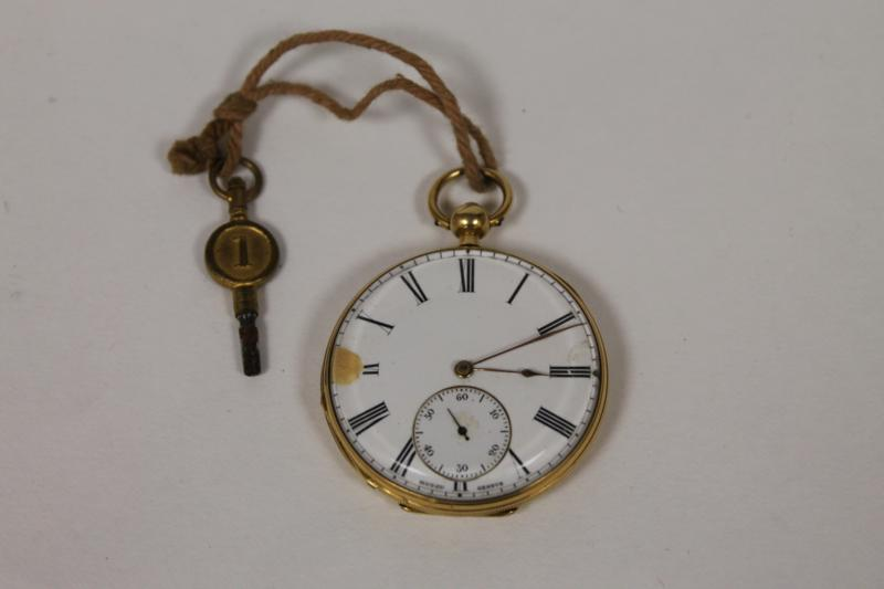 A 19th Century Key Wound Pocket Watch