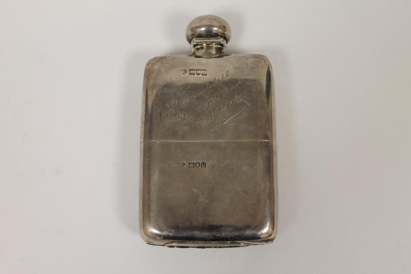 A Sterling Silver Hip Flask